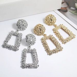 Two Gold & Silver Statement Earrings